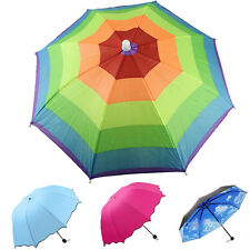 Anti-UV Lady Women Flouncing Princess Parasol Sun/Rain Foldable Umbrella