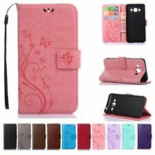 New Flip Leather Wallet Cards Holder Stand w/Strap Case Cover For Samsung Galaxy