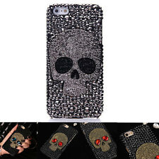 Bling Crystal Skull Skeleton Hard Silicone Case Cover Skin For iPhone Samsung