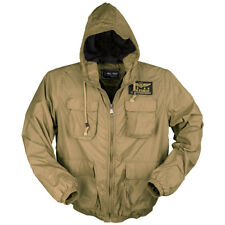 Mil-Tec Army Air Force Mens Hooded Jacket Tactical Pilot Summer Coat Coyote Tan