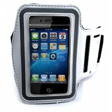 WHITE NEOPRENE SPORTS WORKOUT ARM-BAND RUNNING GYM STRAP CASE for iPHONE iPOD