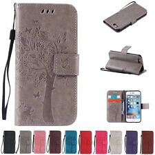 Flip Leather Wallet Cards Holder Stand Case Cover For Apple iPhone 6 7 Plus 5s