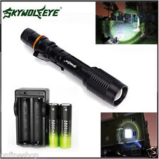 Zoomable 4000 Lumen 5 Modes CREE XML T6 LED Torch Lamp Light 18650&Charger