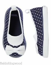 NEW GYMBOREE Spring Prep Navy Blue Dots Sneakers Shoes Sz 4,5,6,7,9,10 Girl