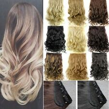 Ho Real Thick,17-30 Inch,Half Full Head Clip In Hair Extensions,Ombre Blonde H10