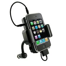 CAR MOUNT FM RADIO TRANSMITTER CHARGER DOCK CHARGING HOLDER for iPHONE and iPOD