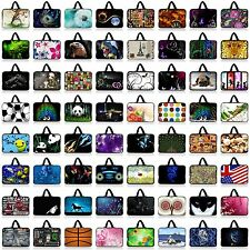 "Colorful 10"" 10.1"" Tablet PC Netbook Laptop Sleeve Bag Case Cover +Hide Handle"