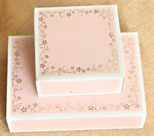 10Pc 4/6 Cavity Cake Muffin Pink Bronzing Paper Box Container Party Wedding Gift