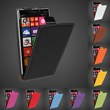 Magnetic Genuine Leather Vertical Flip Case Cover Skin For Microsoft Nokia Lumia