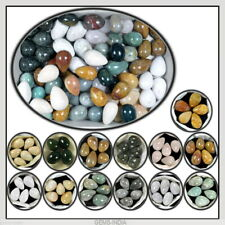 100% Natural Yellow Agate, Lace Agate, Bloodstone,Crystal Healing Minerals Egg
