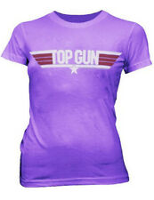Juniors Womens/Teens Top Gun Action Drama Movie Purple Logo T-shirt Tee
