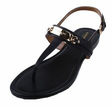 Coach Catherine Womens Black Matte Gladiator Thong Sandal