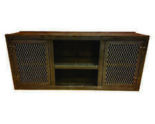 #001- Modern Industrial Media Console Entertainment Center Living Room Furniture