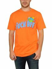 AUTHENTIC OFWGKTA 'F OFF ODD FUTURE' SCREEN PRINTED MEN'S TEE IN ORANGE