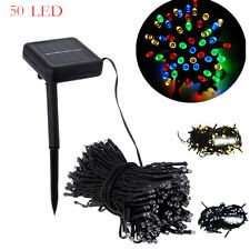 50 LED Outdoor Solar Powered String Light Garden Christmas Party Fairy Lamp WK
