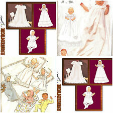 OOP Butterick Sewing Pattern Baby Infant Baptism Christening Gown You Pick