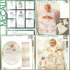 OOP McCalls Sewing Pattern Baby Infant Baptism Christening Gown McCall's U PICK