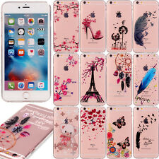 Ultra Thin Soft TPU Case Crystal Clear Skin Cover Patterned for iphone & Samsung