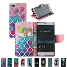 Flip Leather Wallet Cash Card Stand Skin Case Cover For Huawei Ascend P8 P9 Lite