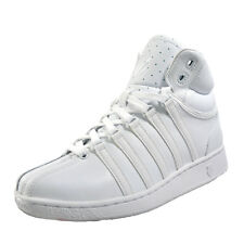 K Swiss Classic VN Vintage Mid Mens Casual Retro Leather Trainers All White