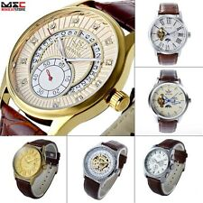 Men's Luxury Self Wind Leather Analog Automatic Mechanical Sport Wrist Watch New