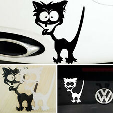 Funny Reflective Waterproof Car Auto Sticker Cat Pattern Sticker Black/White DI