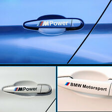 4PC M Power Car Decal Doors Handle Auto Stickers Car Styling Decor for BMW Cover