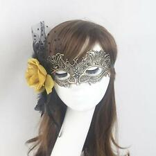 Elegant Flower Feather Lace Eye Mask Masquerade Halloween Party Costume