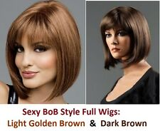 Ladies Medium BOB Style Cut Full Wig High Quality Fancy Hair Kanekalon+Free Cap