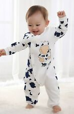 Newborn boy Romper One Piece Baby clothes Infant Boys cow Outfit Clothes
