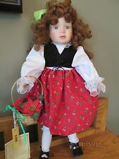 "DYNASTY DOLL COLLECTION PORCELAIN 16"" 'JEANNE' DOLL  NEW IN BOX"