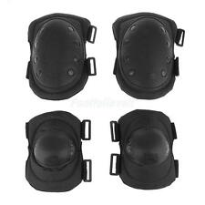 4Pcs Military Tactical CS Protective Gear Hunting Safety Elbow Knee Pads Set