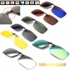 Driving Clip-on Style Polarized UV 400 Lens Sunglasses Glasses Day Night Vision