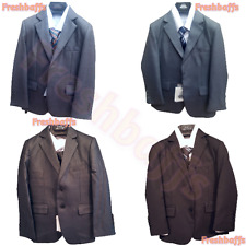 BOYS FORMAL 5 PIECES WEDDING FIRST COMMUNION PROM PAGE BOY SUIT 1-15YRS