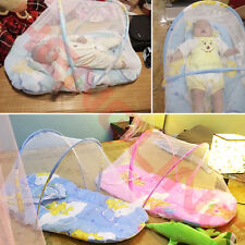 Foldable Infant Baby Bed Mosquito Net Tent Mattress Cradle Canopy Cushion Pillow