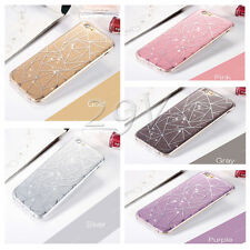 NEW Bling Glitter Crystal Sparkling Hard Back Case Cover For iPhone 5S 6 6S Plus