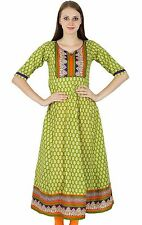 Bollywood Kurta Indian Designer Floral Print Women Ethnic Kurti Top Tunic Dress