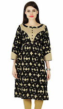 Abstract Kurta Bollywood Designer Women Ethnic Kurti Cotton Tunic Dress