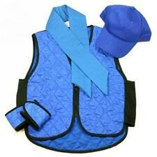 Polar Evaporative Cooling Vest Kit with Skull Cap Blue , Size 3X-Large