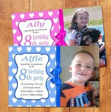 Boys Girls Personalised 2nd Birthday Party Invites Photo Magnets Any Age (BMIO3)