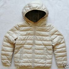BNWT NEXT NEW Girls Ecru pearl Padded hooded winter jacket shower resistant
