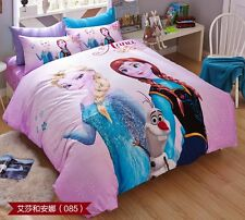 ** New Frozen Elsa and Anna Single Bed Quilt Cover Set - Flat or Fitted Sheet **