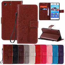 Luxury Filp Leather Wallet Card W/ Strap Stand Cover Case For Sony Xperia Serie