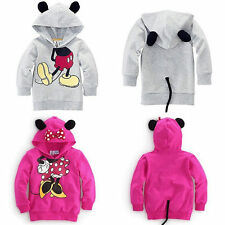 Girls Boys Kids Mickey Minnie Mouse Pullover Hoodies Sweatshirt Jumper Coat Tops