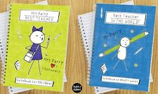 Personalised Purple Ronnie Male & Female Teacher Notebooks Thank You Gift School