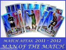 Choose Your MATCH ATTAX 2011/12 Topps 2012 MAN OF THE MATCH Cards 11 12 MOTM