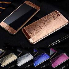 3D Diamond Color Temper Glass Front +Back Screen Protector For iPhone 6s plus #b