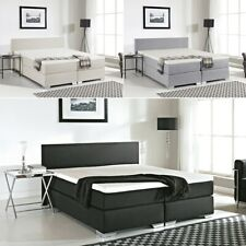 Boxspring Bed with mattress + Visco Topper Mattress Pad Box Spring Bed Fabric