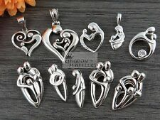 925 Sterling Silver Family of Father, Dad, Mother, Mum, Kids, Children, Pendant