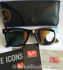 RAY BAN Polarized or Non, Wayfarer Sunglasses RB2140 50MM or 54MM G15 Lens, New